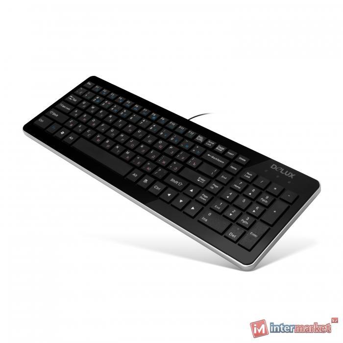 Клавиатура Delux DLK-1500, Black, USB