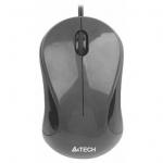 Мышь A4Tech N-320, Optical, 1000dpi, Black, USB