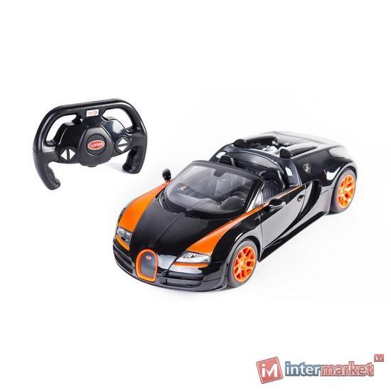 Радиоуправляемая машина RASTAR 1:14 Bugatti Veyron 16.4 Grand Sport Vitesse 70400OB, Чёрно-Оранжевый