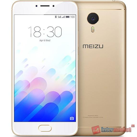 Смартфон Meizu M3 Note, 32Gb, Gold