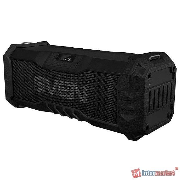 SVEN PS-430, черный, акустическая система 2.0, Bluetooth, FM, USB, Waterproof (IPx5), LED-дисплей /